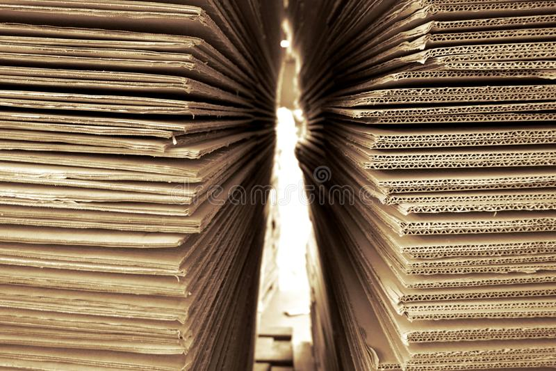 Papier ondulé abstrait photos stock