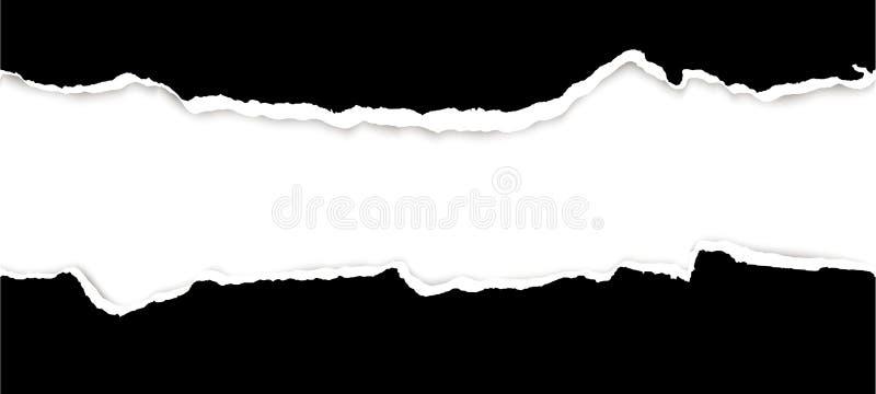 papier ouvert déchiré photo stock