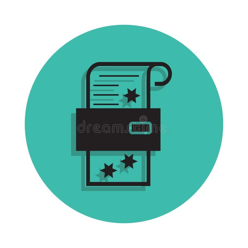 papier par l'icône d'imprimante Élément de maison d'impression pour le concept et l'icône mobiles d'apps de Web Ligne mince icône illustration libre de droits