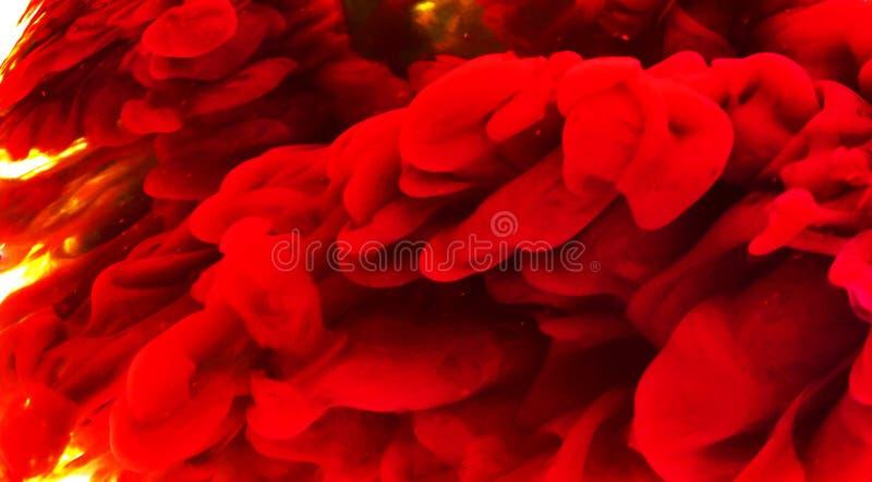 Papier peint à encre fluide de couleur rouge abstraite avec une légère teinte de jaune illustration de vecteur