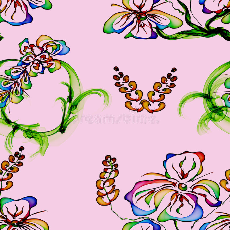 Papier peint élégant floral, configuration sans joint illustration de vecteur