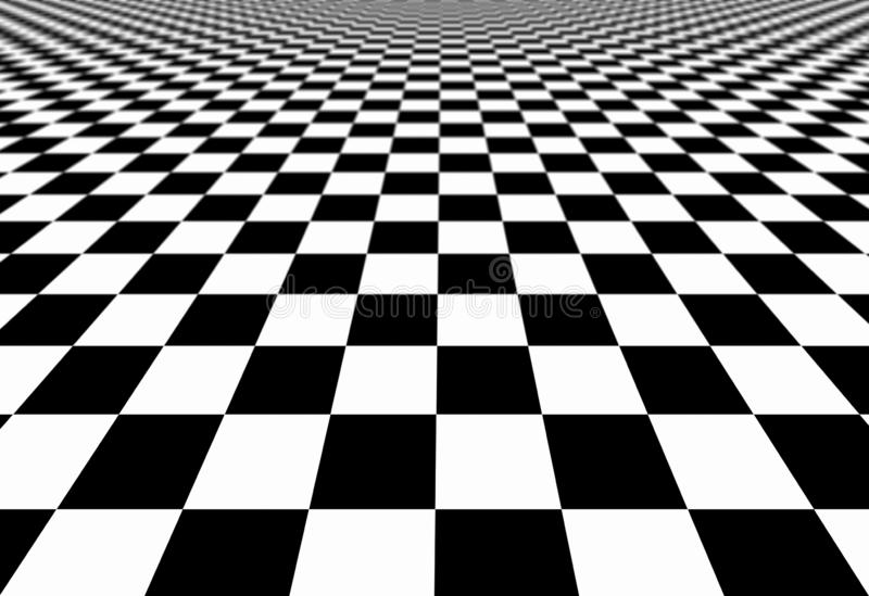 Papier Peint Abstrait A Carreaux Fond Parquetant Noir Et Blanc De Texture De Modele D Illusion Illustration Des Places 3d Illustration Stock Illustration Du Texture Modele 131521331