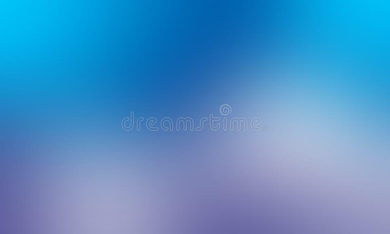 Papier peint abstrait bleu et blanc de fond de tache floue de couleurs en pastel, illustration de vecteur illustration libre de droits