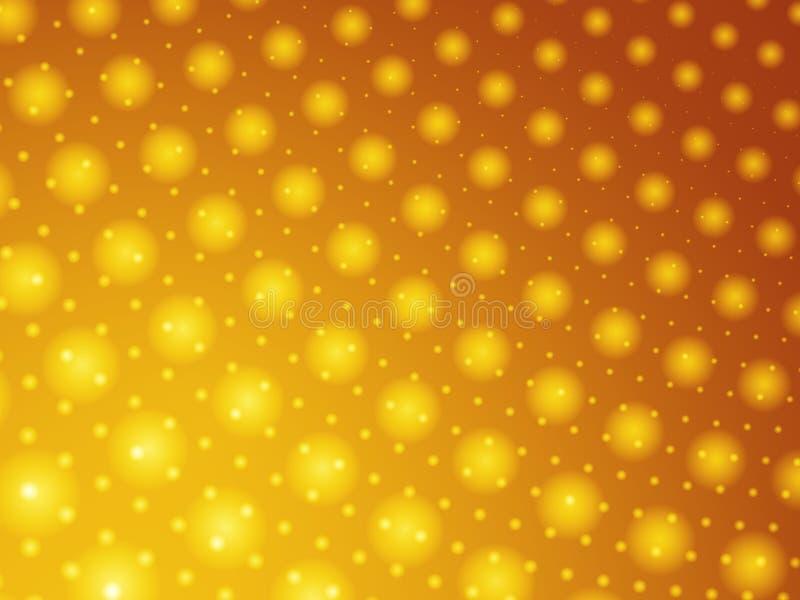 Papier peint abstrait de billes d'or illustration de vecteur