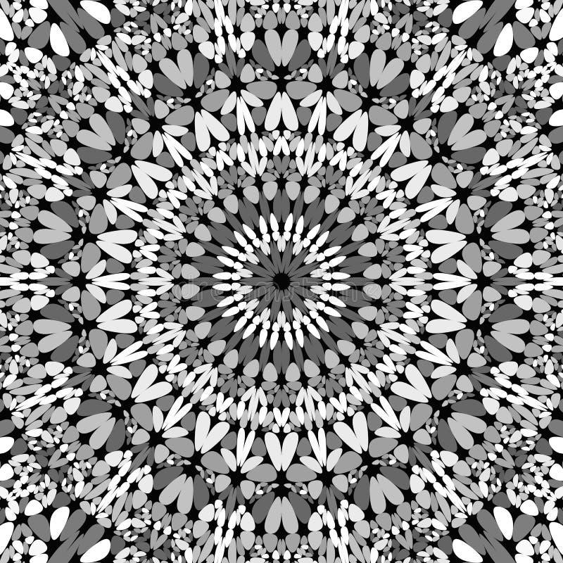 Papier peint abstrait de mandala de mosaïque de gravier de gris - conception graphique de vecteur illustration stock