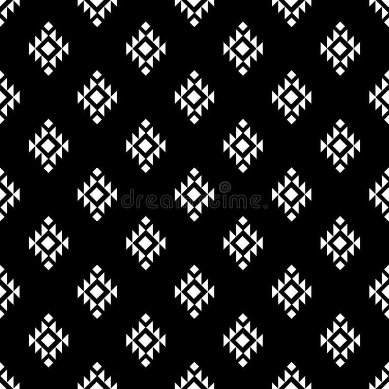 Papier peint abstrait moderne d'origine ethnique d'impression à la mode géométrique primitif élégant sans couture tribal de modèl illustration de vecteur