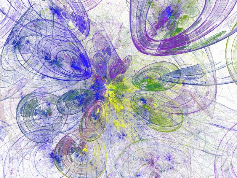 Papier peint abstrait série de fractale Fond d'art de fractale pour la conception créative Décoration pour le bureau de papier pe image stock