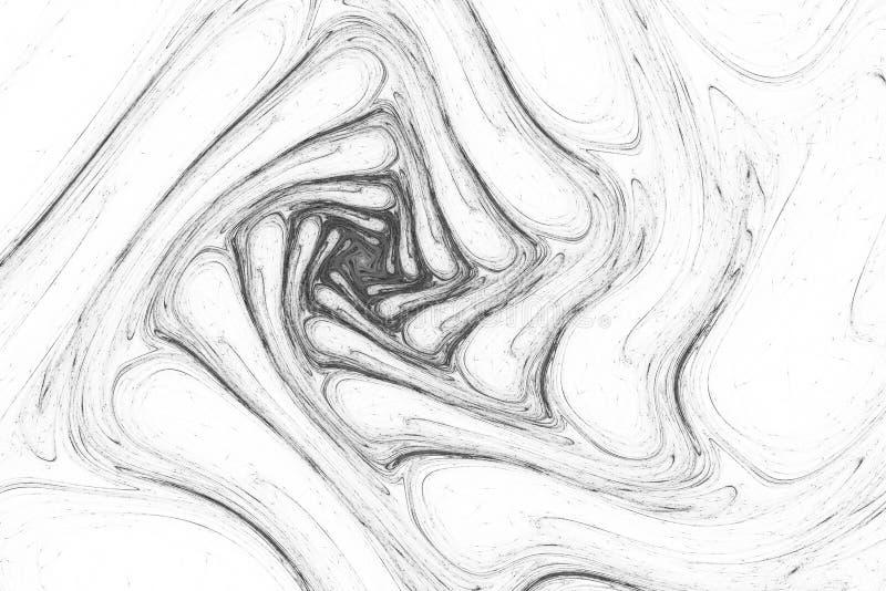 Papier peint abstrait série de fractale Fond d'art de fractale pour la conception créative Décoration pour le bureau de papier pe photos stock