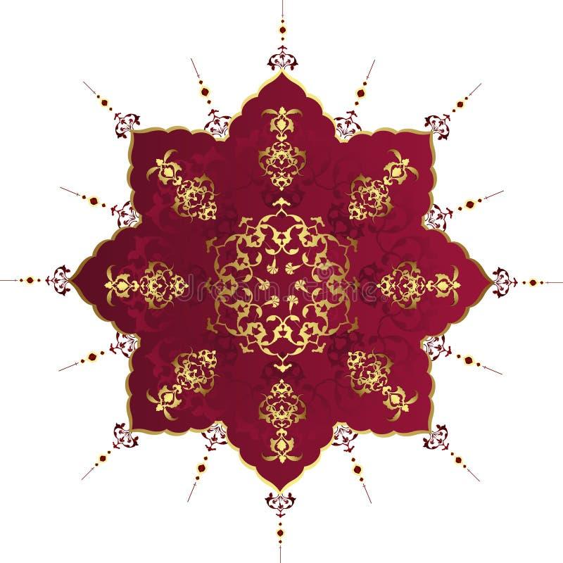 papier peint antique de tabouret d'illustration de conception illustration stock