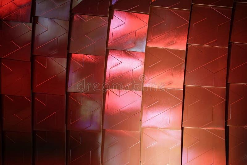 Papier peint architectural métallique abstrait Élégant photographie stock libre de droits