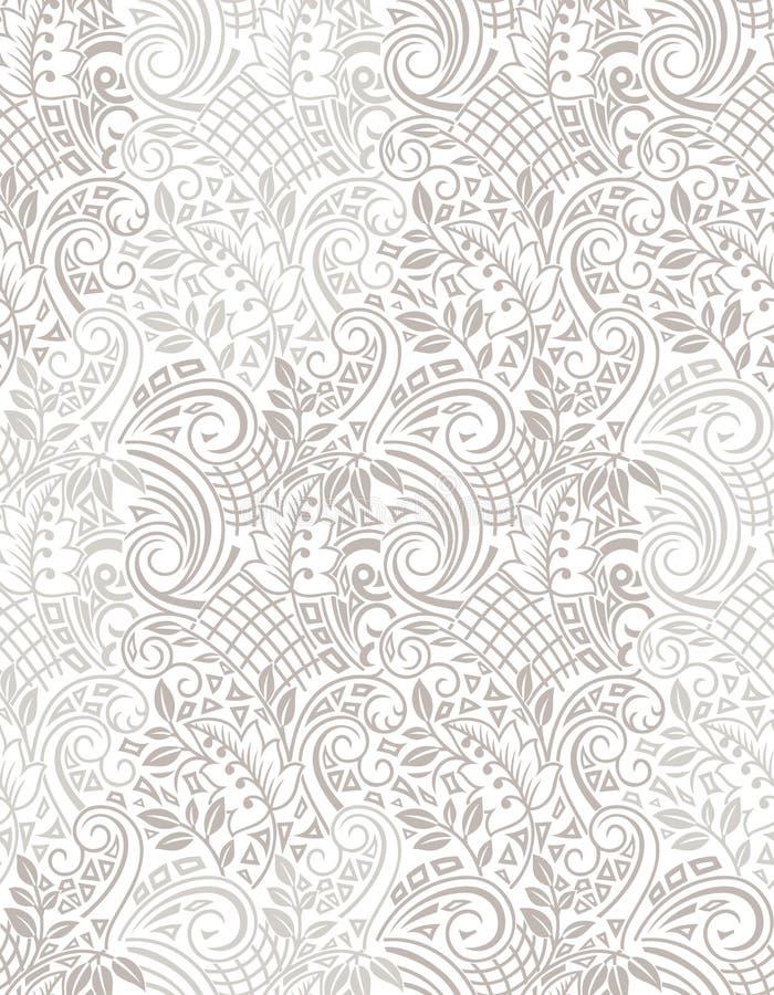 Papier peint artistique sans couture de fleur illustration de vecteur