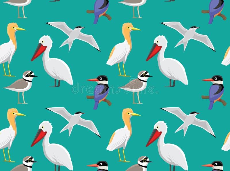 papier peint asiatique al atoire 4 d 39 oiseaux illustration de vecteur illustration du animal. Black Bedroom Furniture Sets. Home Design Ideas
