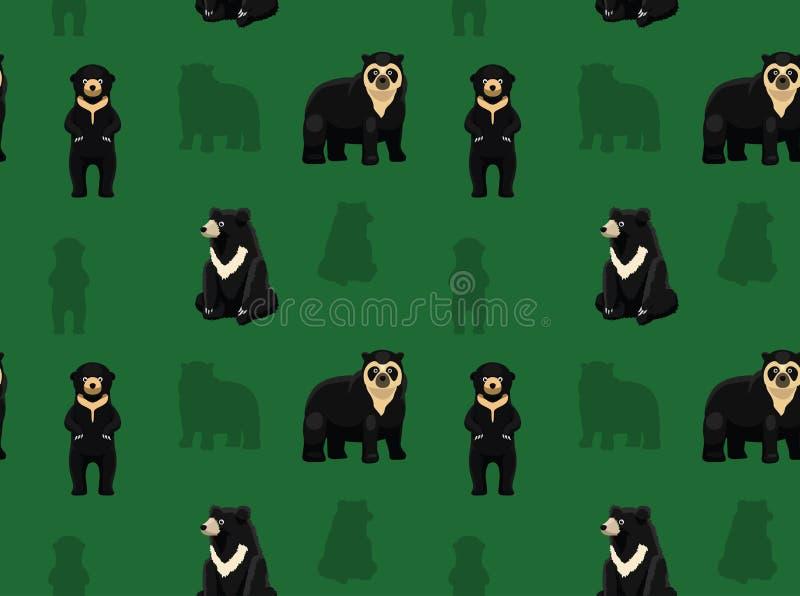 Papier peint asiatique 1 d'ours illustration stock