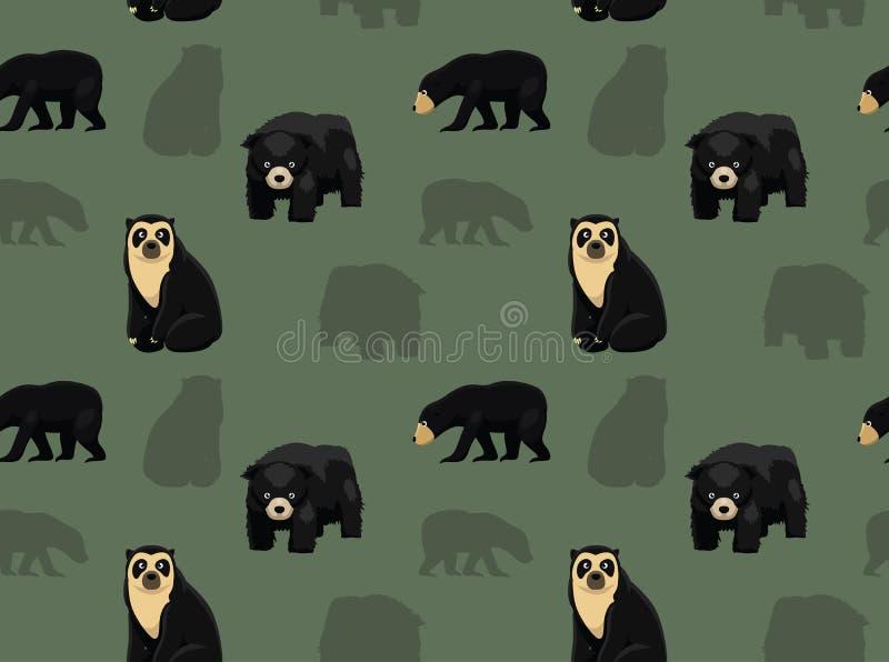 Papier peint asiatique 2 d'ours illustration stock