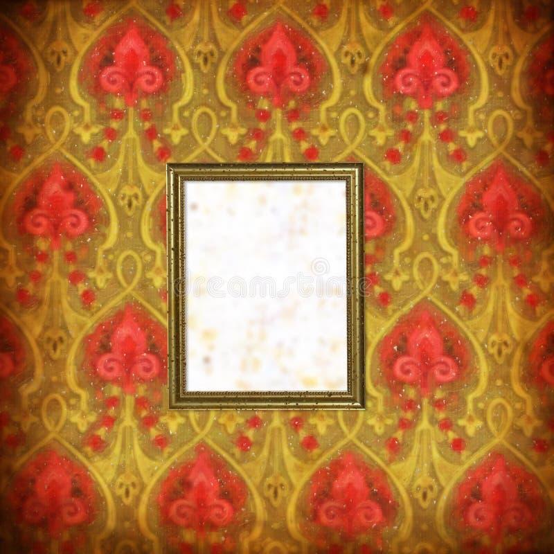Papier peint avec les souillures et le cadre de tableau - Tableau avec papier peint ...