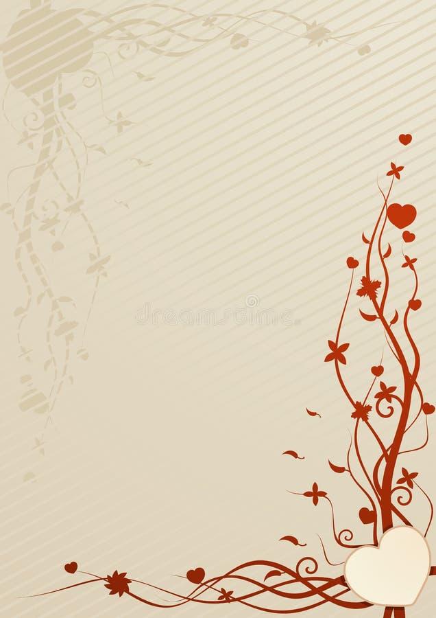 papier peint beige de vecteur d'illustration de coeur illustration stock