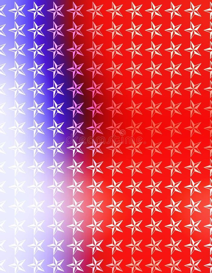 Papier peint blanc rouge d'étoiles bleues illustration stock