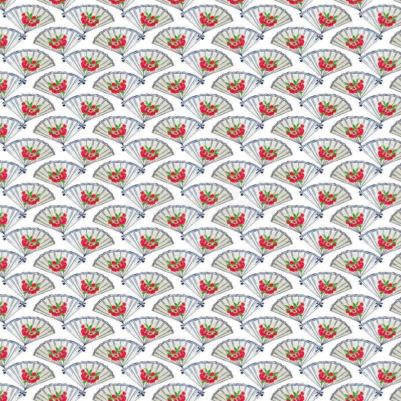 Papier peint bleu et rouge de cru de ventilateur de fond de répétition photos libres de droits
