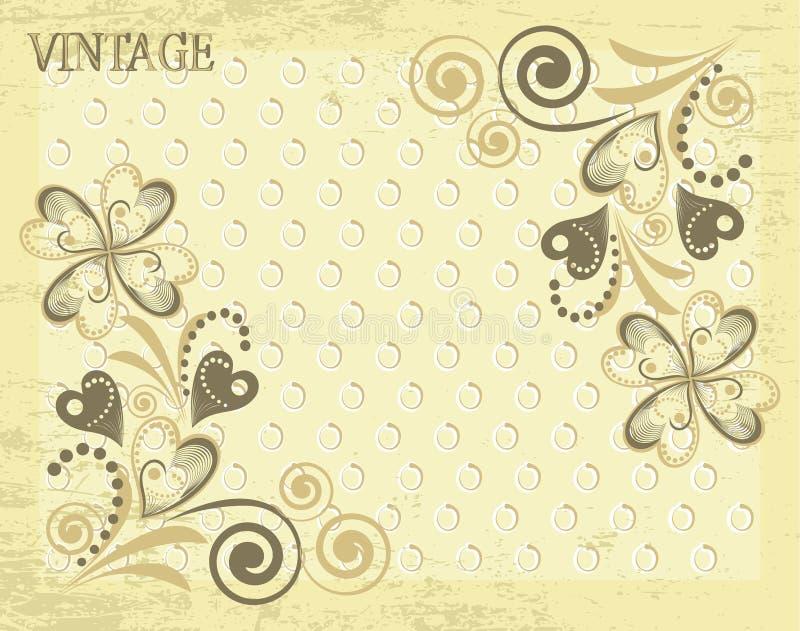 Papier peint classique de vecteur avec une configuration de fleur illustration de vecteur