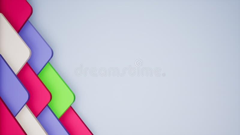 papier peint coloré abstrait de fond de l'illustration 3D illustration de vecteur