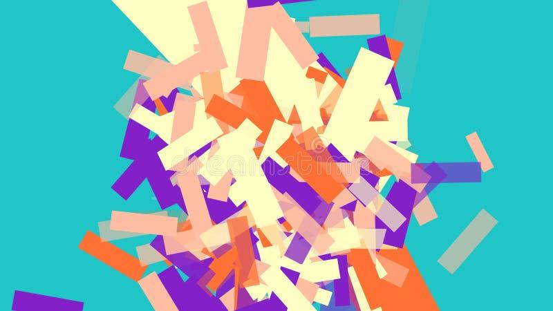 Papier peint coloré de désordre de rectangles illustration libre de droits