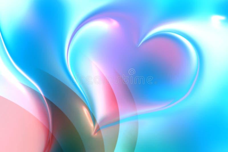 Papier peint coloré de fond de coeur illustration de vecteur