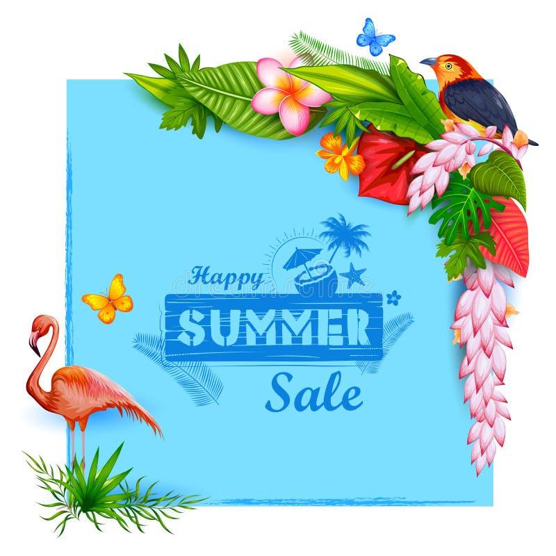 Papier peint d'affiche d'heure d'été pour le calibre de bannière d'invitation de partie d'amusement illustration libre de droits