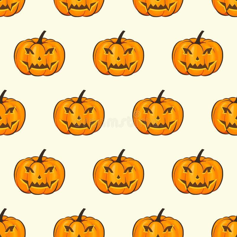 Papier peint d'enveloppe d'isolement par modèle sans couture de Halloween illustration stock