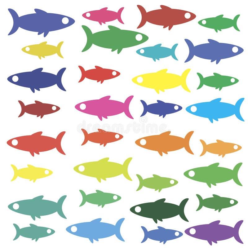 papier peint d 39 ic ne de poissons illustration de vecteur. Black Bedroom Furniture Sets. Home Design Ideas