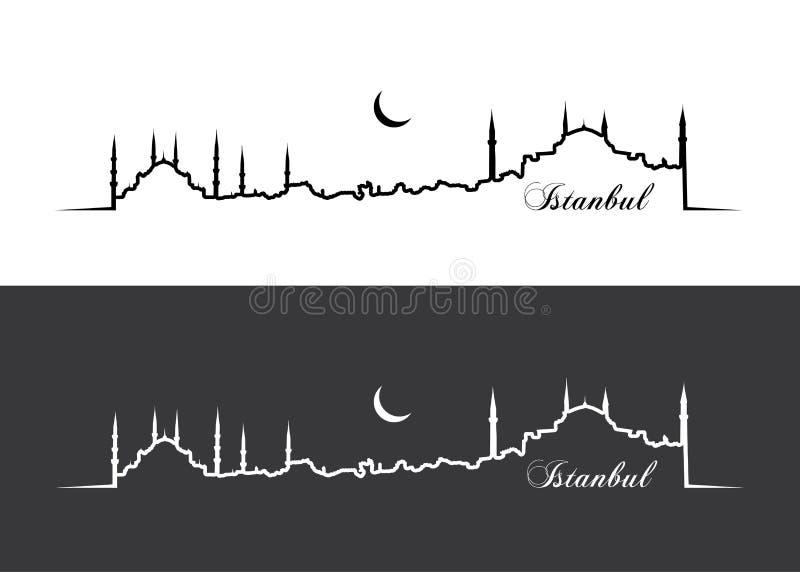Papier peint d'Istanbul illustration stock