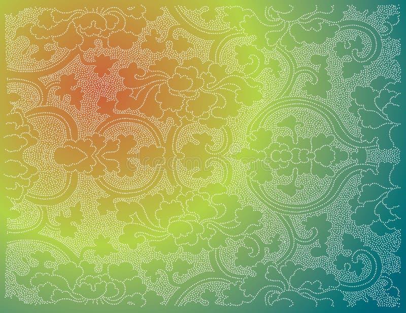 papier peint d'oriental de fleur illustration stock