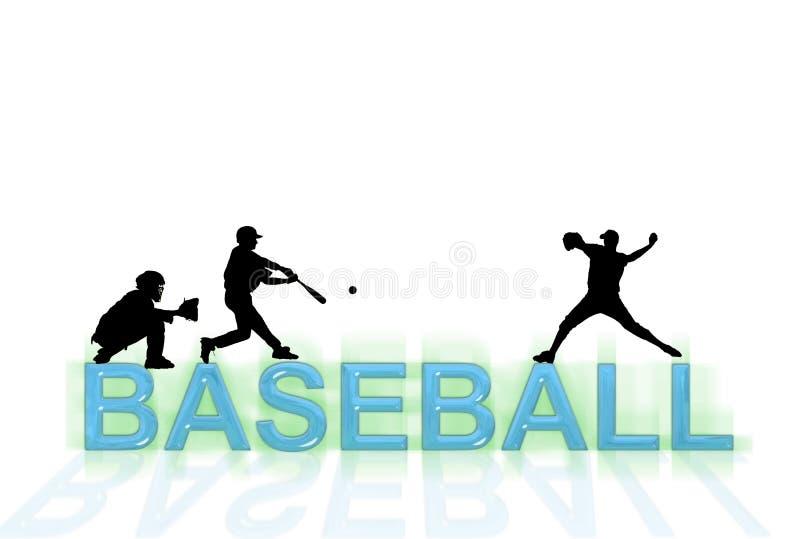 Papier peint de base-ball illustration libre de droits