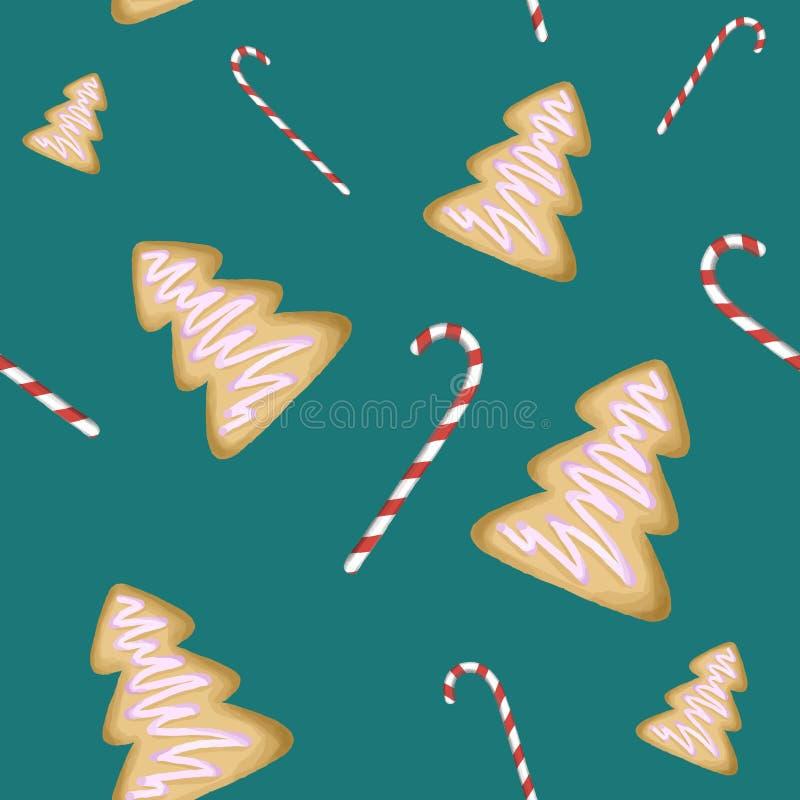 Papier peint de bonbons à Noël image libre de droits