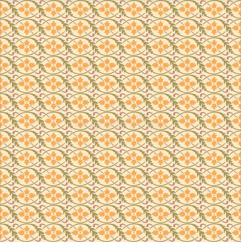 Papier peint de calibre d'Ilustration de vecteur d'impression d'ornement de modèle de fond illustration de vecteur