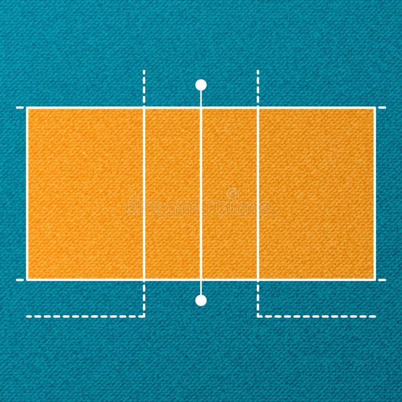 Papier peint de cour de volleyball illustration de vecteur