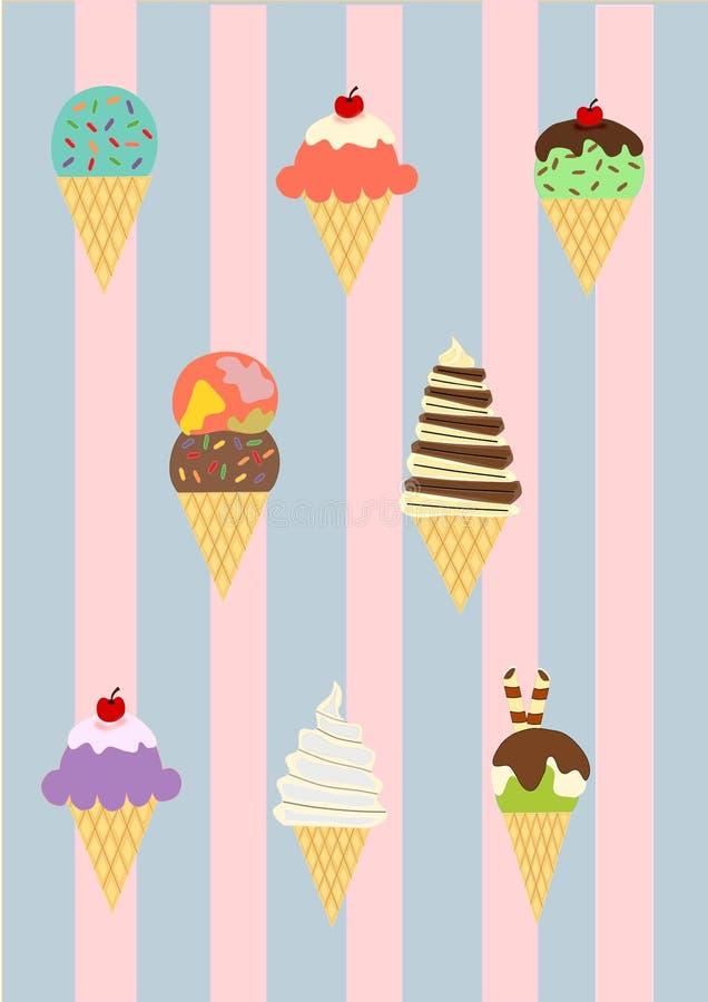 Papier peint de crème glacée  images stock