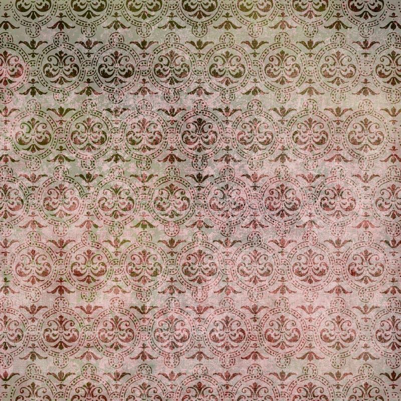 Papier peint de damassé de cru image stock