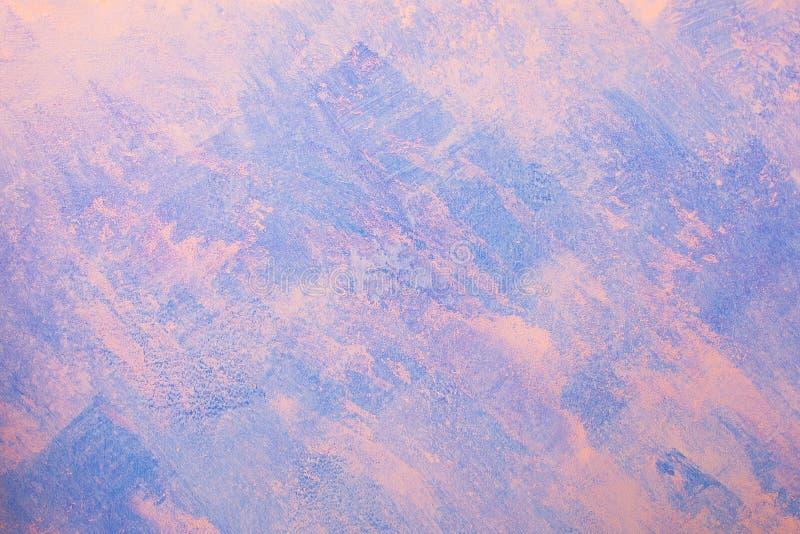 Papier peint de fond de mur de plâtre, bleu et rose nu photos stock