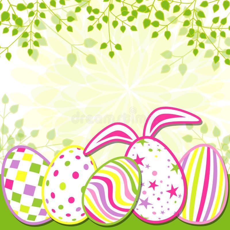 Carte de voeux de vacances de Pâques de printemps illustration stock