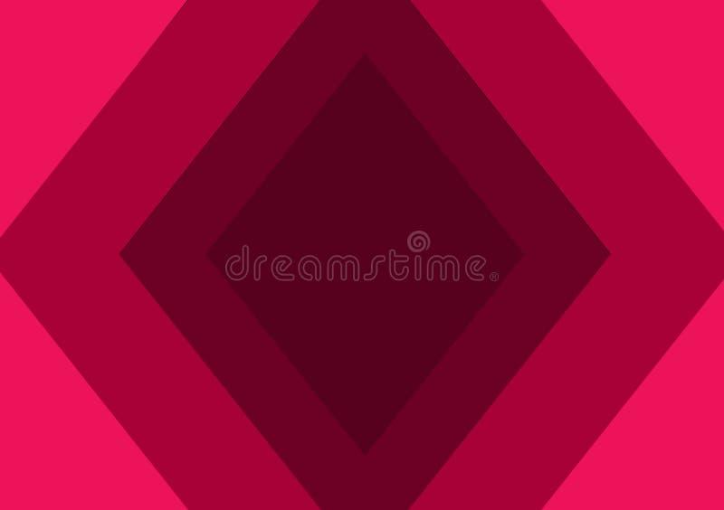 Papier peint de fond de formes de rose de diamant illustration de vecteur