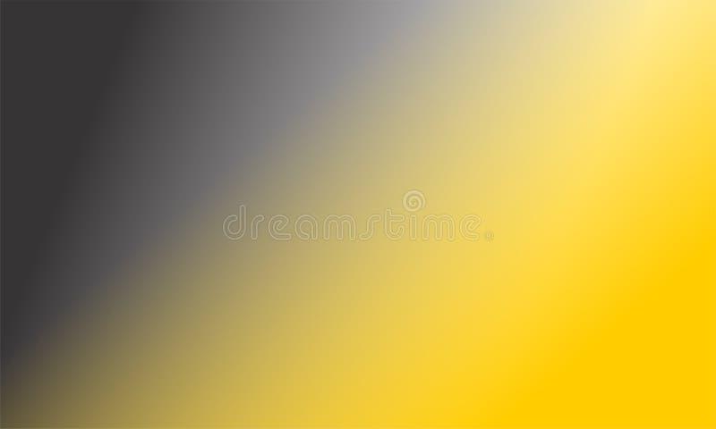 Papier peint de fond ombragé par résumé gris jaune de tache floue, illustration de vecteur illustration libre de droits