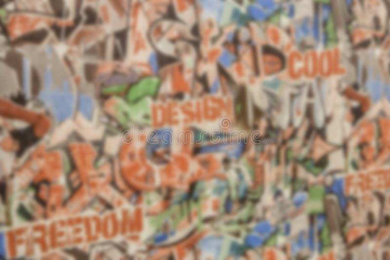 Papier peint de fond pour le journal avec les bannières et le graffiti colorés photos stock