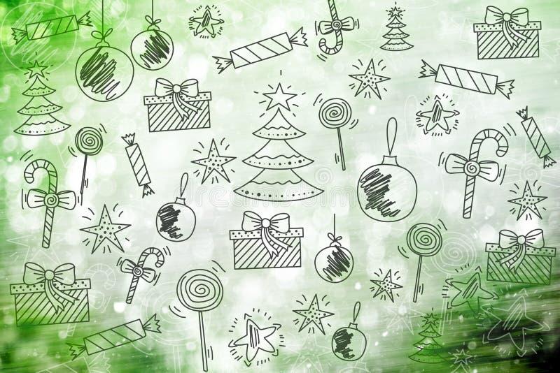 Papier peint de Joyeux Noël, modèle, bonne année de fond images stock