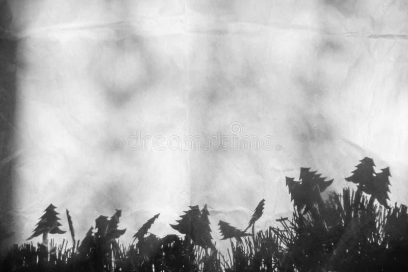 Papier peint de Noël noir et blanc packagin de texture de fond photographie stock libre de droits