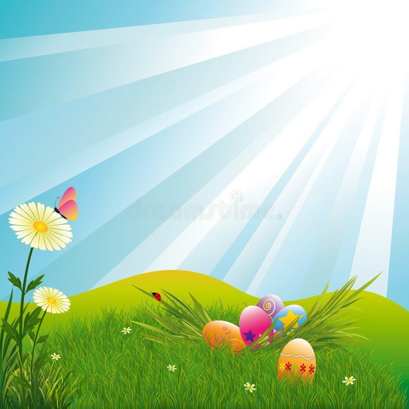 Papier peint de Pâques de printemps illustration stock