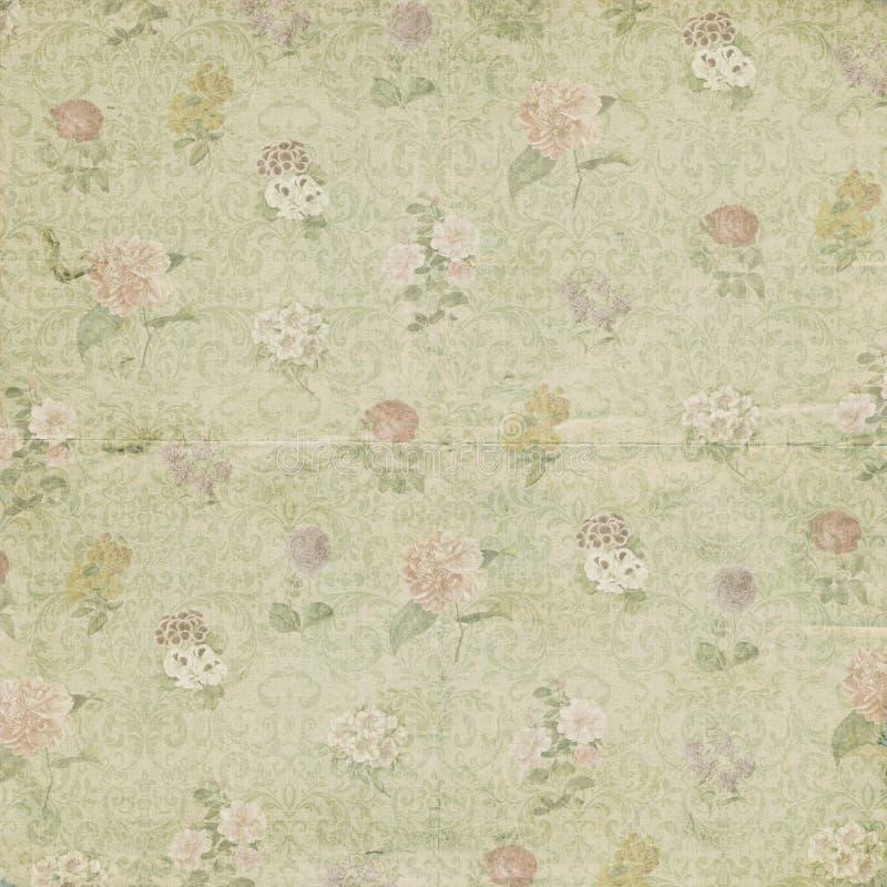 Papier peint de papier d'ornement de fleur de vintage illustration de vecteur