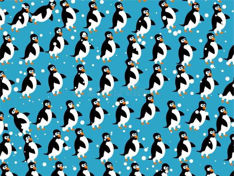 papier peint de pingouin illustration de vecteur