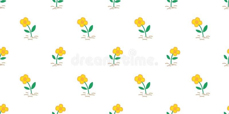 Papier peint de répétition de fond de tuile d'isolement par écharpe sans couture de nature de yard de cactus de jardin de vecteur illustration stock
