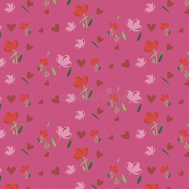 Papier peint de ressort avec des fleurs Fond images stock