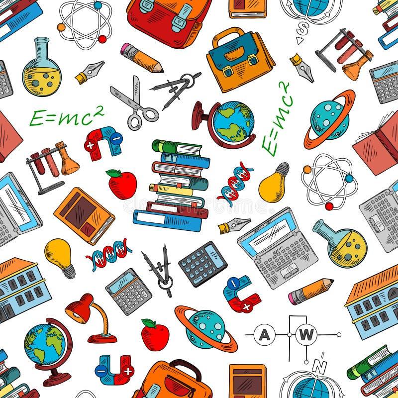 papier peint de symboles de la science et de la connaissance illustration de vecteur image. Black Bedroom Furniture Sets. Home Design Ideas